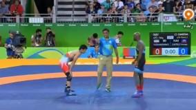 پیروزی با اقتدار حسن یزدانی مقابل هائیتی (المپیک ریو 2016)