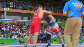 پیروزی کمیل قاسمی مقابل گرجستان و صعود به نیمه نهایی (المپیک ریو 2016)