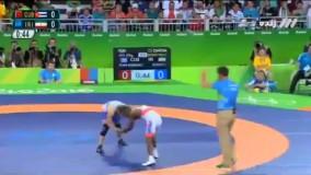 پیروزی حسن رحیمی مقابل کوبا و کسب مدال برنز (المپیک ریو 2016)