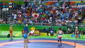پیروزی حسن یزدانی مقابل روسیه و کسب مدال طلا (المپیک ریو 2016)