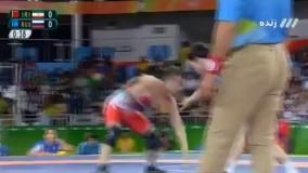 پبروزی حسن رحیمی مقابل روسیه و صعود به نیمه نهایی (المپیک ریو 2016)