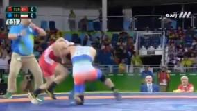 پیروزی غیرتمندانه حسن یزدانی مقابل ترکیه و صعود به نیمه نهایی (المپیک ریو 2016)