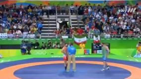 ضربه فنی شدن رضا یزدانی مقابل ازبکستان در ۲۲ ثانیه! (المپیک ریو 2016)