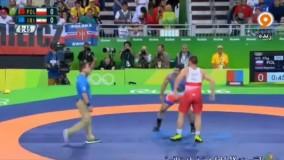 پیروزی رضا یزدانی مقابل لهستان در شانس مجدد (المپیک ریو 2016)