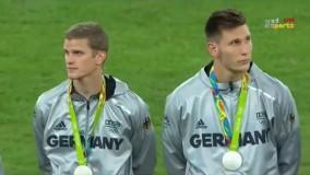مراسم اهدای مدال به تیمهای ملی برزیل و آلمان (المپیک ریو 2016)