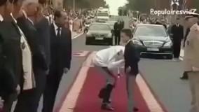 واکنش جالب شاهزاده مراکشی به مسئولین  دست بوس !