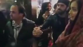 میلیون ها نفر اینو دیدند !!! ازدحام مردم در خیابان ولیعصر بخاطر دیا میرزا بازیگر هندی فیلم سلام بمبئی