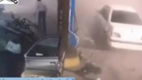 انفجار کپسول گاز ماشین