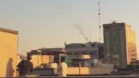 شليك پدافند هوايی در مناطق مركزی تهران