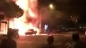 آتش-سوزی-یک-مغازه-در-خیابان-پیروزی