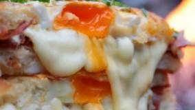 آموزش ساندویچ تخم مرغ