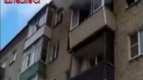 شجاعت پدر خانه هنگام آتشسوزی