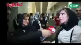 سوتی خفن و عجیب دختر ایرانی در برنامه زنده!!