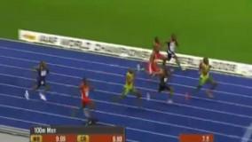 بهترین رکورد سرعت یوسین بولت در صد متر ( بهترین رکورد دوی سرعت 100 متر تاریخ )