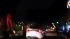 فیلم / تعقیب و گریز پلیس تهران با یک سواری لوکس سفید
