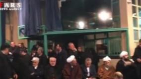 حضور مردم و چهره ها بر پیکر مرحوم آیت الله هاشمی رفسنجانی