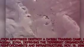 تصاویر هوایی از بمباران شديد پايگاه هاى داعش در رقه سوريه