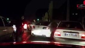 تعقیب گریز پلیس و مزدا3 در تهران