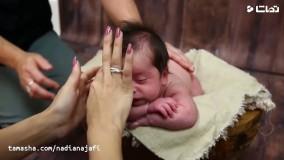عکاسی فوق العاده دیدنی از نوزاد در آتلیه