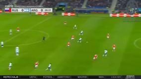 خلاصه بازی روسیه 0-1 آرژانتین