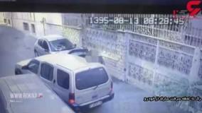 فیلم واقعی تعقیب و گریز در شب پلیس تهران با سواری مزدا سفید