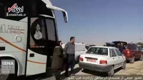 فیلم/ حضور هنرمندان سینما در مناطق زلزلهزده استان کرمانشاه