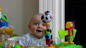 خنده جالب نوزاد