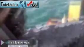 فیلم/ نجات ملوان هندی توسط نیروی دریایی ارتش ایران