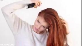 آموزش مدل مو فوق العاده زیبا