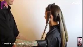 آموزش رنگ مو مدل آمبره