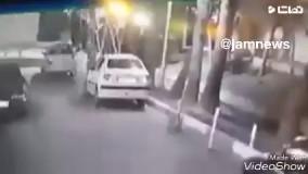 فیلم ضبط شده از زورگیری با قمه در اصفهان