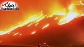 فیلم/ آتشسوزی وسیع در جنگلهای کالیفرنیا