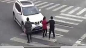 رانندگی یک زن بدون گواهینامه حادثه آفرید