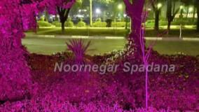 نورپردازی باغ ویلا فضای سبز(روشنایی)با پروژکتور LED
