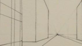 آموزش طراحی با مداد - نمایی از منهتن امریکا