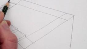 طراحی با مداد پله پنروز