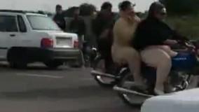 فیلم جنجالی موتور سواری دو دختر در دزفول