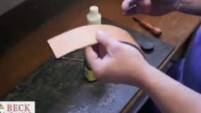 آموزش رنگ کردن چرم