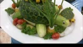 اموزش میوه ارایی به همراه سبزیجات  بسیار زیبا