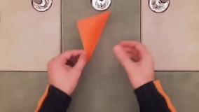آموزش کاردستی ساختن گل کاغذی ( اوریگامی )