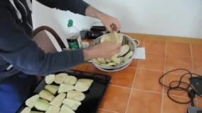 آموزش سرخ کردن بادمجان بدون نیاز به روغن