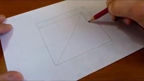 کشیدن طرح سه بعدی بر روی کاغذ