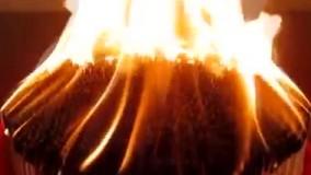 دمینو های شگفت انگیز با کبریت و آتش
