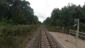 مسیر راه آهن به سمت پاریس از کابین لکوموتیوران