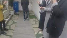 لحظه ورود آقای فرهادی به آموزشگاه پس از اسکار