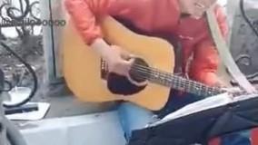 آواز خوانی توریست ژاپنی در خیابان شهناز تبریز ????????