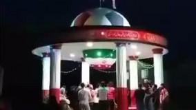 جشن قهرمانی هواداران پرسپولیس بر سر مزار مرحوم هادی نوروزی