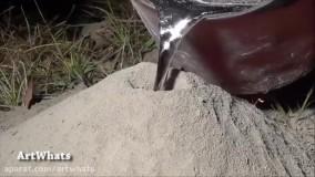ریخته گری آلومینیوم در لانه مورچه های قرمز