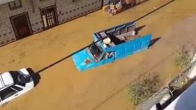 شهر نقده غرق در آب