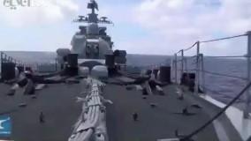 اولین فیلم منتشر شده از نیروی دریایی چین